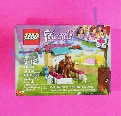99 Cent Auctions 1 Box LEGO FRIENDS 41089 LITTLE FOAL Horse Baby Stable House Vet Care Set Kit