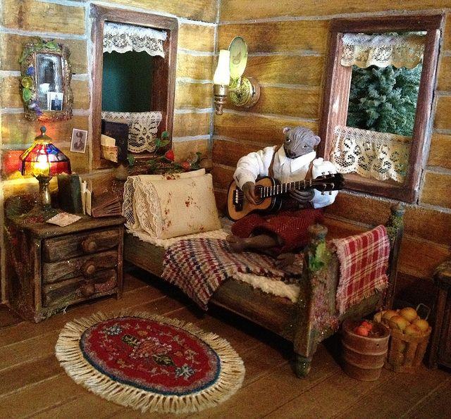 Fairytale Log Cabin Dollhouse