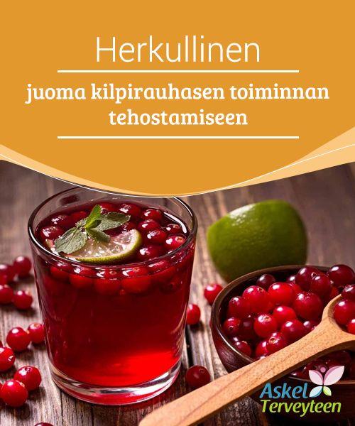Herkullinen juoma kilpirauhasen toiminnan tehostamiseen  Karpalot yhdessä erilaisten mausteiden ja #sitruunamehun kera voivat auttaa #parantamaan #kilpirauhasen toimintaa.  #Luontaishoidot
