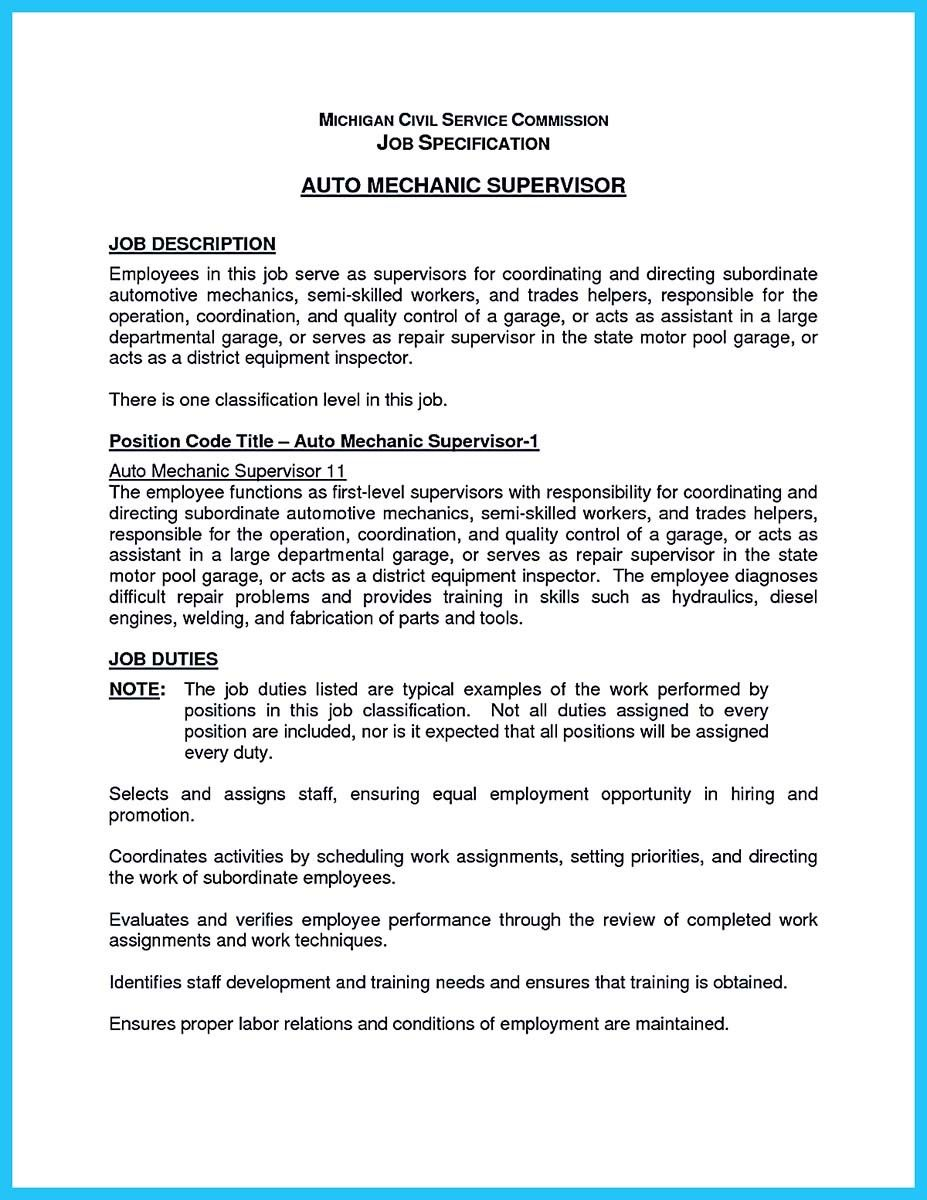 Nice Writing A Concise Auto Technician Resume  Resume Template