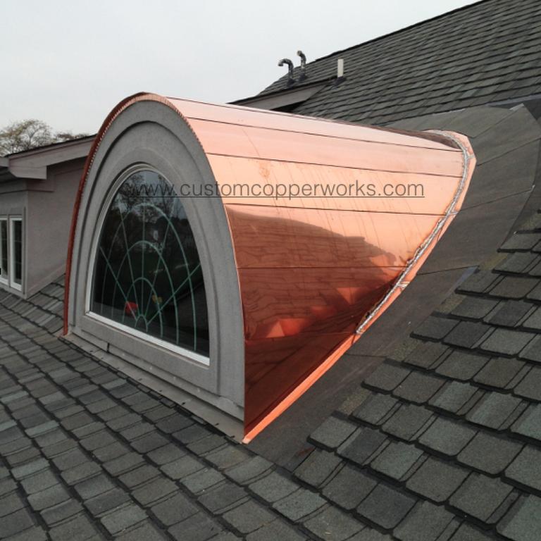 Large Flat Seam Copper Barrel Dormer Copper Roof Sheet Metal Fabrication Dormers