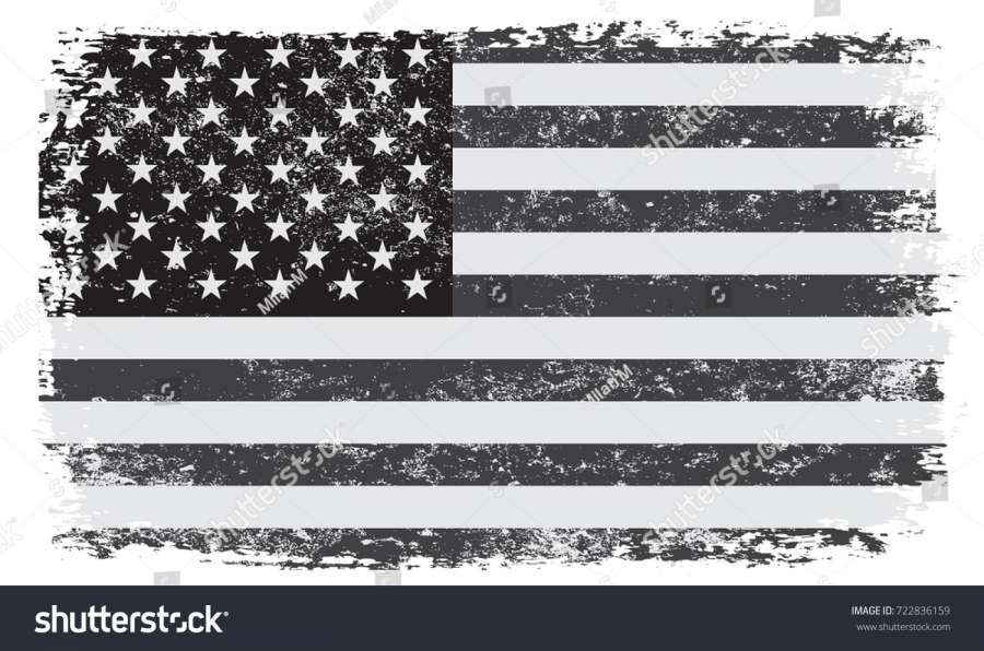 18 Faded American Flag Black And White Png American Flag Image Icon Black And White