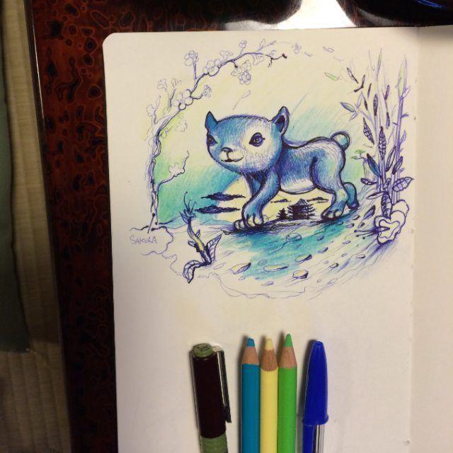 Le Japon c'est tromignon ! #japan #kawai #illustration #tokyo #kyoto #creature #handrawn drawing #lovejapan #popsurrealism #pencils #moleskine #colors #sakurasan #thedesigntip #cats #evilcute #olivierrinckel #japantrip