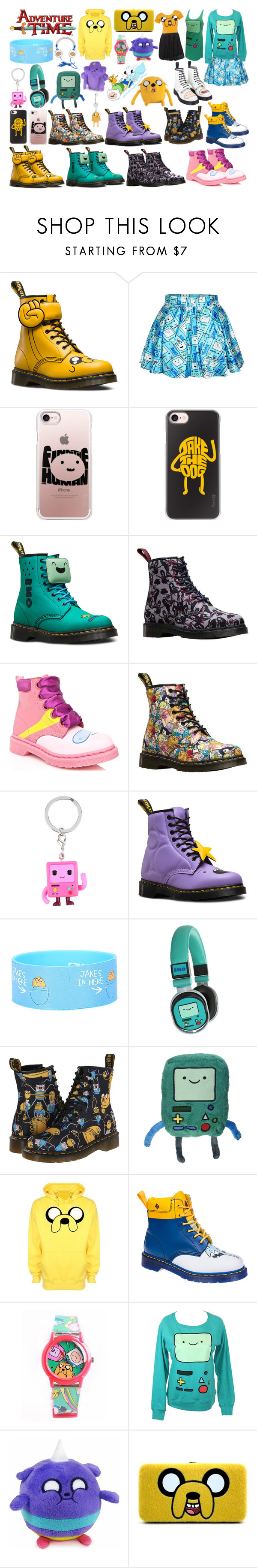 """""""Sans titre #307"""" by kokoxpops ❤ liked on Polyvore featuring Dr. Martens, Casetify, Cartoon Network, CO and adventuretime"""