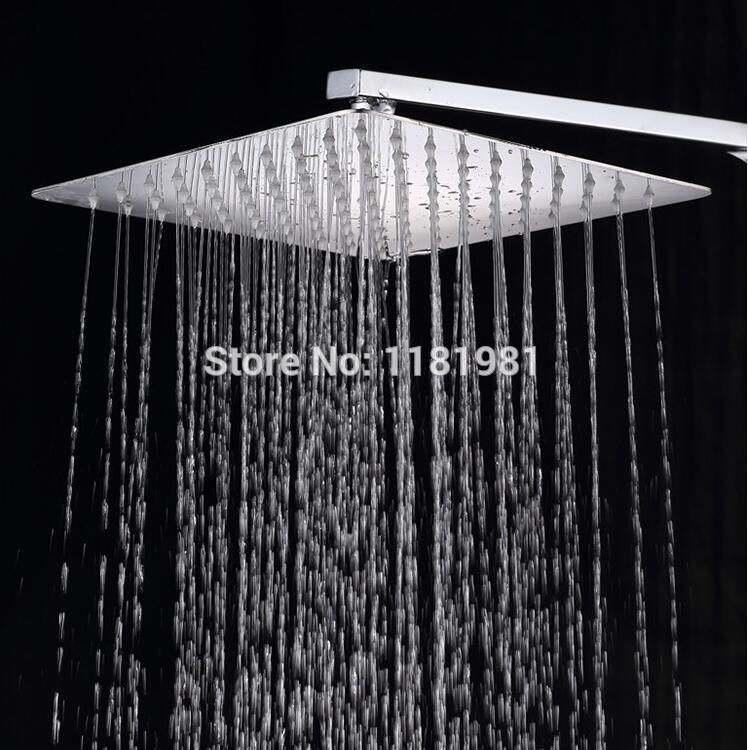 19 1 2 Recessed Showerhead Enjoy A Superior Showering Experience