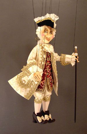 Large 17th Century Venetian Nobleman Marionette