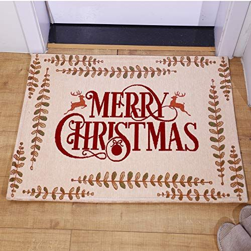 Amida Merry Christmas Gift Doormats With Words And Reindeers