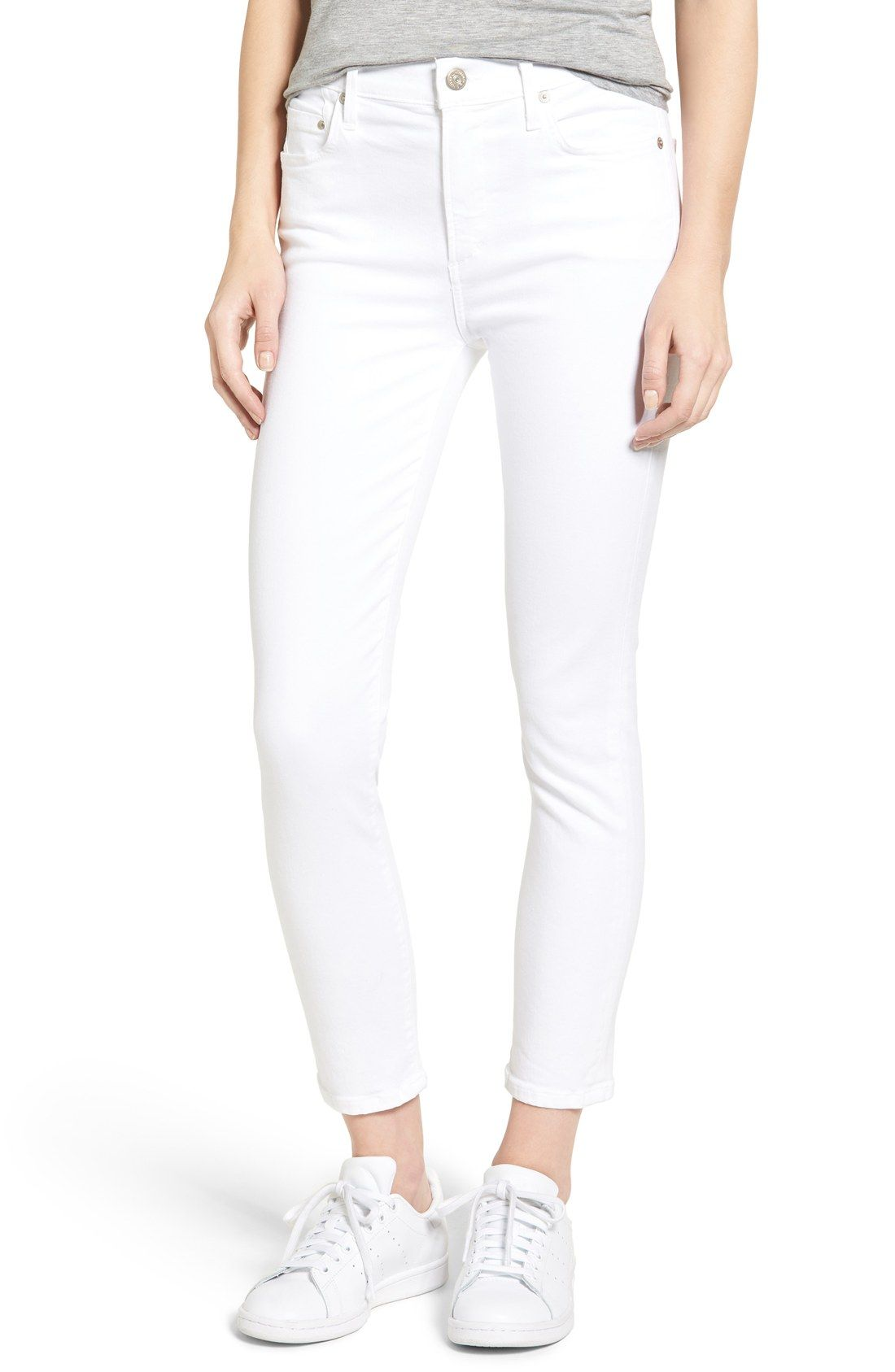 Rocket High Rise Crop Skinny Jeans (Sculpt White) | White Out ...