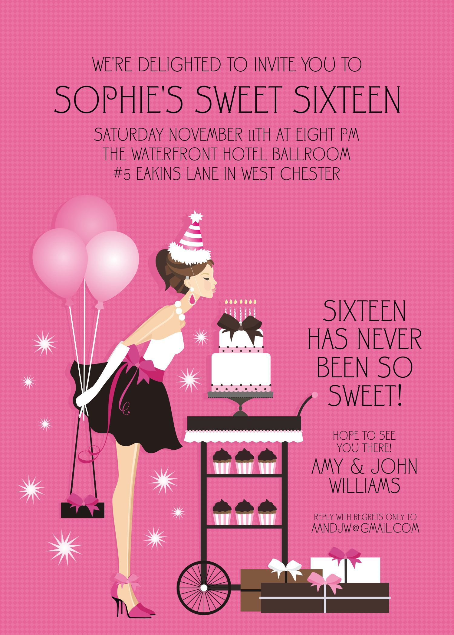 sweet 16 birthday invitations uk