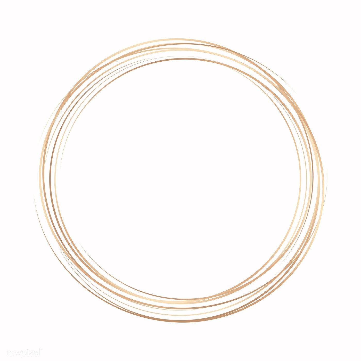 Download Premium Vector Of Gold Circle Frame On A Pastel Pink Background Gold Circle Frames Circle Frames Vector Free