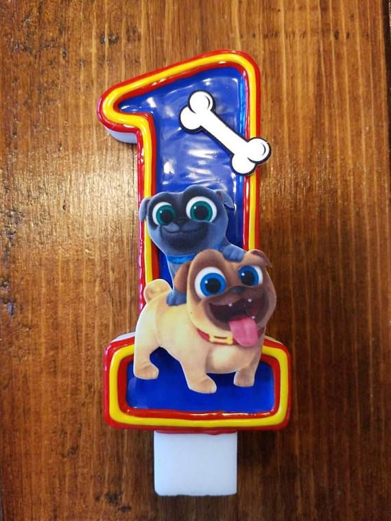 This listing is for a Puppy dog pals birthday candle in your choice of  number. Each candle is hand painted and food safe. Choose your c…  d0c4df578b1