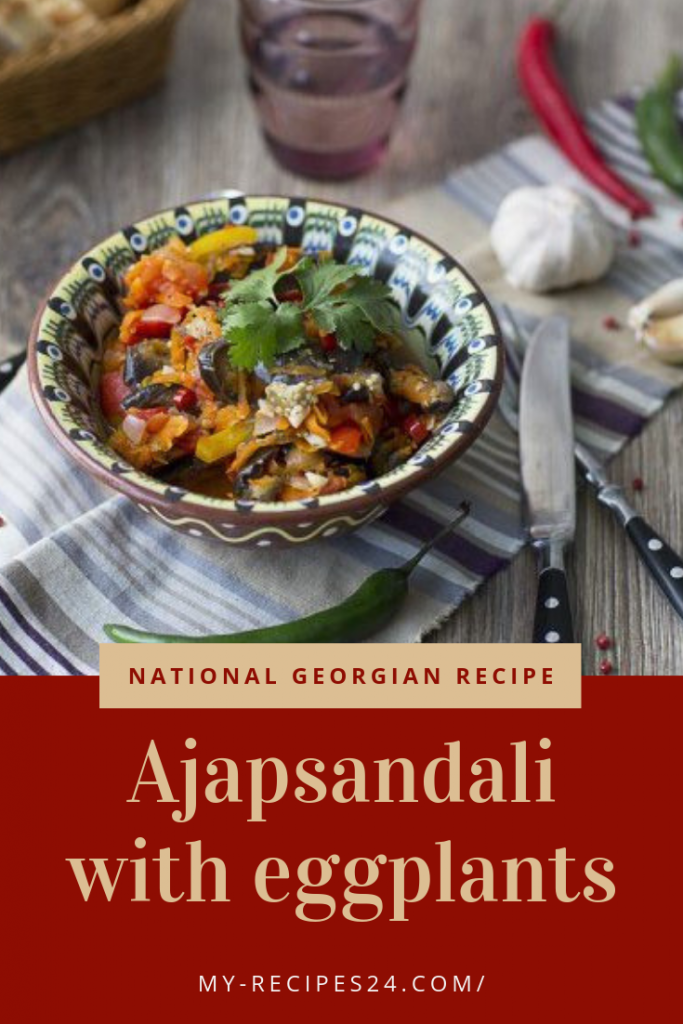 Ajapsandali with eggplants images