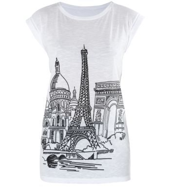 White City Sketch Graphic Longline T-Shirt