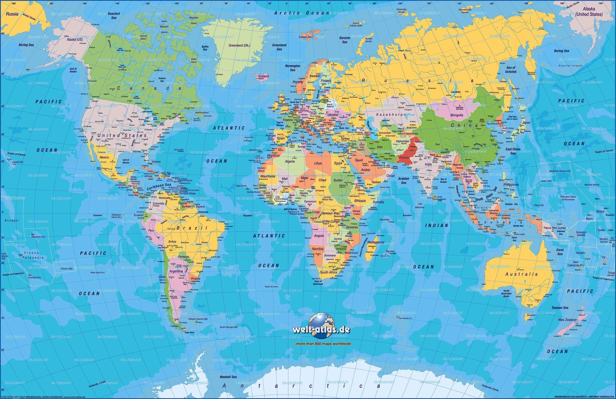 ver mapa mundo inteiro Mapa Múndi: Mapa do Mundo e os Mapas dos Continentes em 2018  ver mapa mundo inteiro