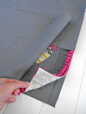 Fussy Cut: tutorial - pom pom trim pillow
