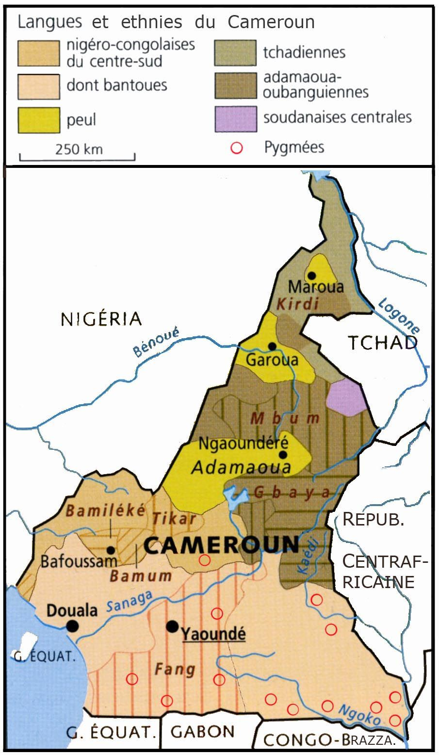 Ethnic groups of Cameroon by Cepleanu map cameroon cameroun