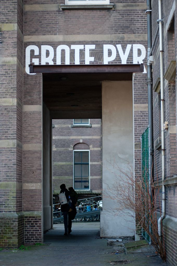 lettering for 'Grote Pyr' building, The Hague, 2011