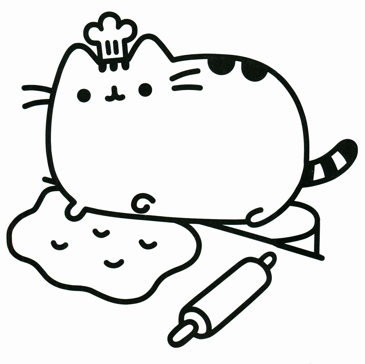 Cute Printable Coloring Pages New Pusheen Coloring Pages Best Coloring Pages For Kids Pusheen Coloring Pages Cat Coloring Page Food Coloring Pages