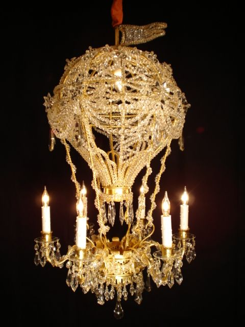 CRYSTAL HOT AIR BALLOON CHANDELIER For Sale | Antiques.com | Classifieds
