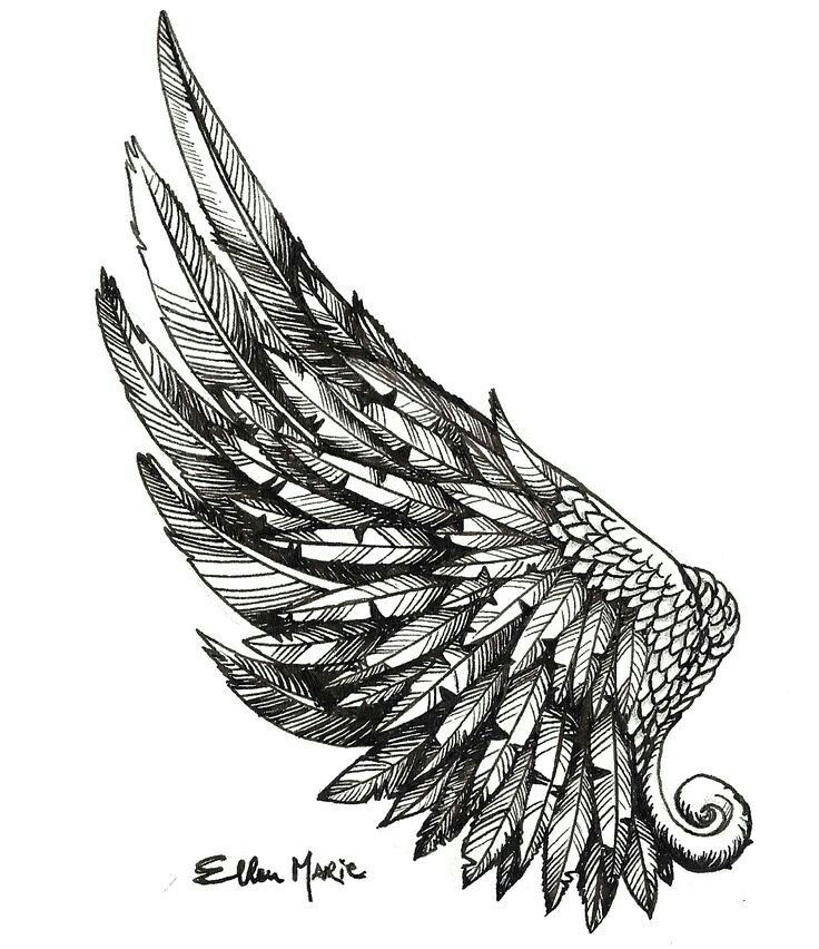 Angel Wings Tattoo Drawing Designs Tatouage Ailes Tatouage Cou Tatouage