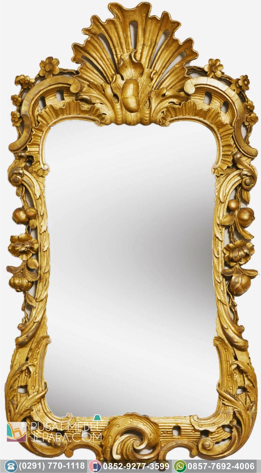 Jual pigura bingkai cermin minimalis ukir murah