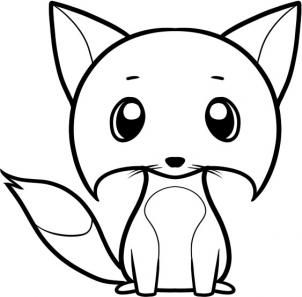 Animals How To Draw A Fox For Kids Mozillians Drawings Easy