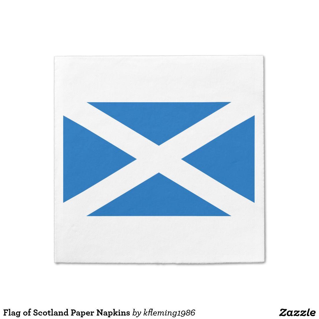 Flag of scotland paper napkins flag of