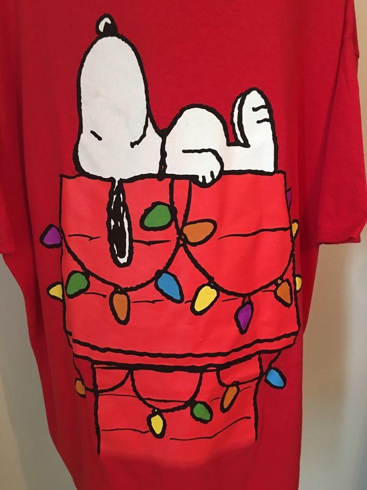peanuts brown christmas shirt 3xl snoopy dog house