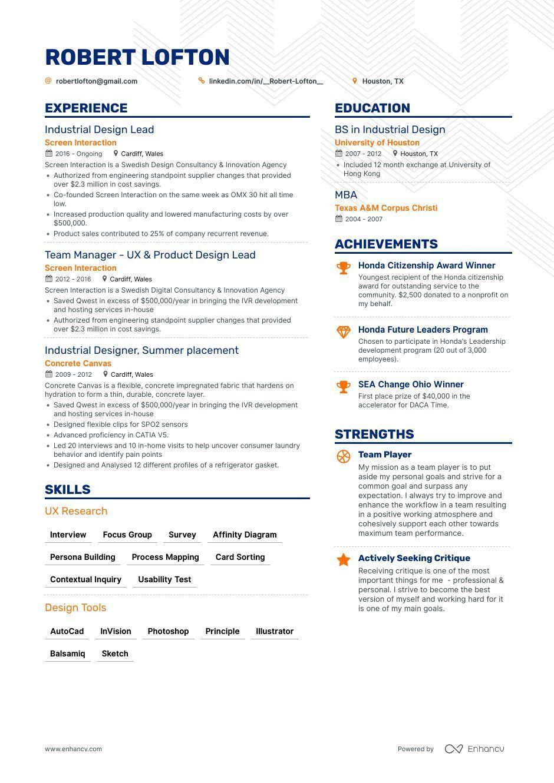 10 Industrial Design Resume Samples Industrial Design Resume Examples Resume Design Resume Examples Resume