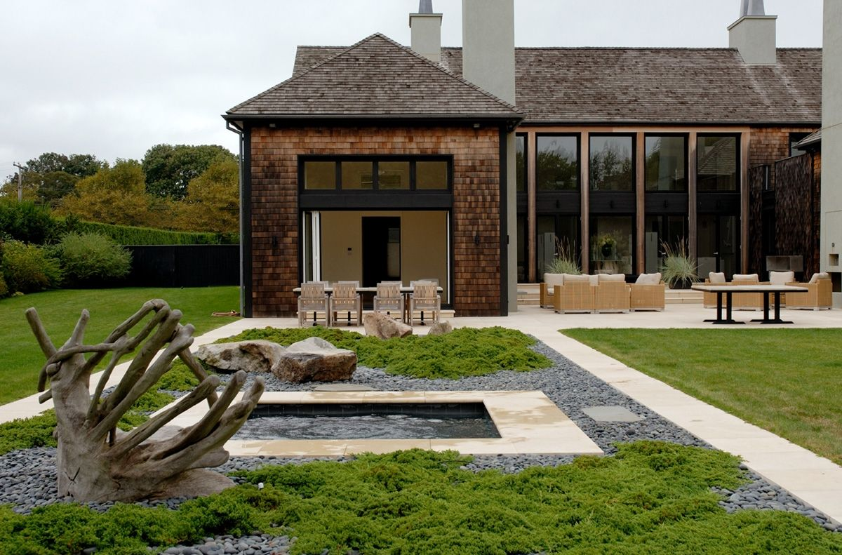 Best Beautiful Cedar Shingles Cascading Modern Courtyard