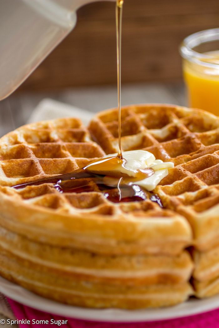 Buttery Golden Buttermilk Waffles Sprinkle Some Sugar Buttermilk Waffles Waffle Recipes Waffle Recipe Food Network