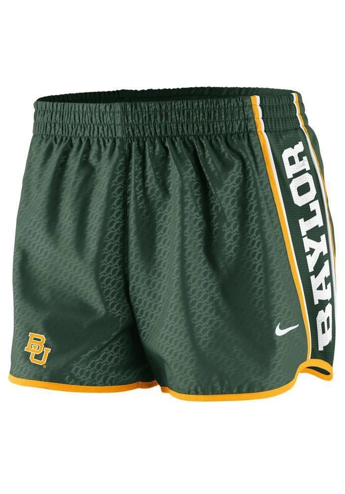 Baylor Bears Nike women's green chainmaille shorts | Baylor