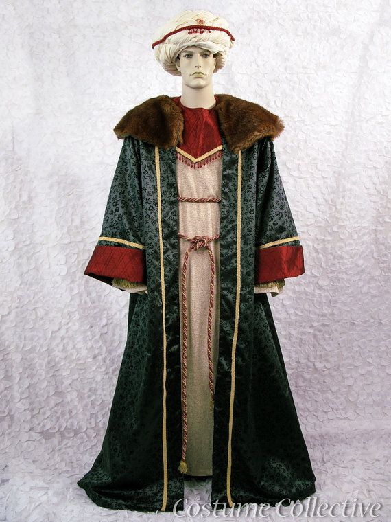 wise man costume Mens green