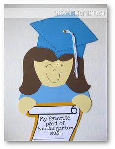 Preschool Graduation Crafts Or Ideas Miss Kindergarten Graduation