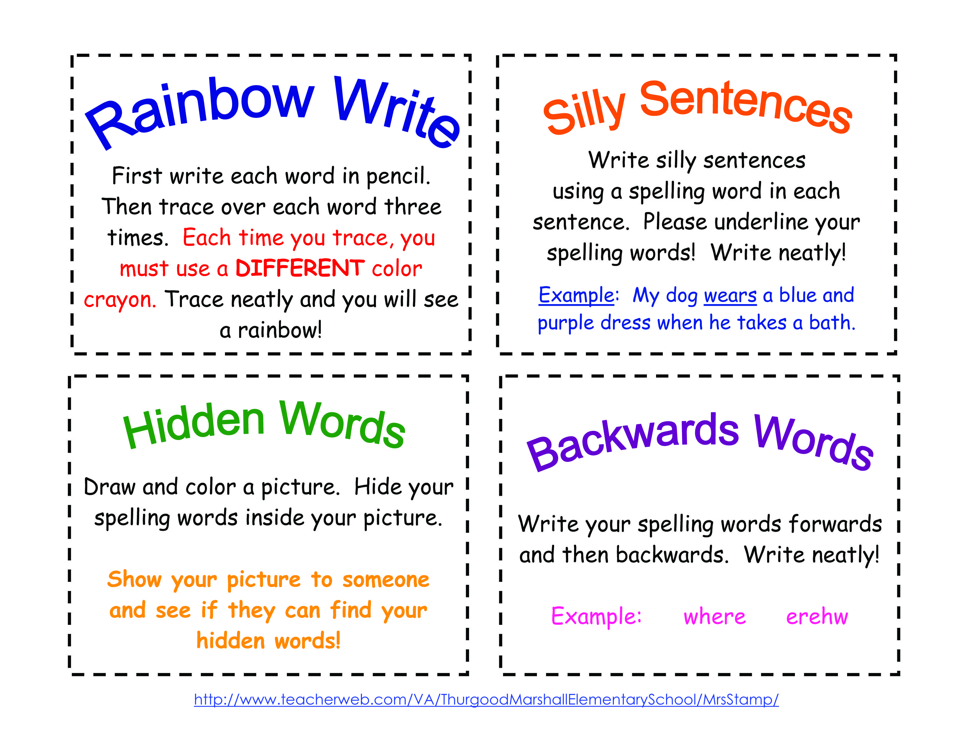 Free Printable Spell Cards