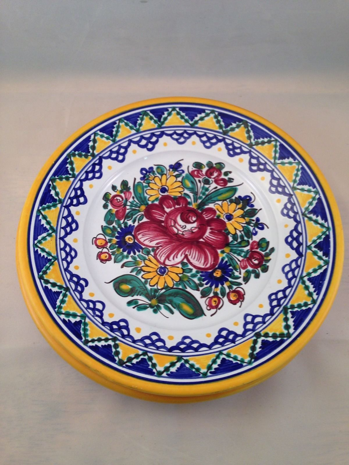 Set Of 2 Keva Hand Signed Mexican Pottery Plates 8\