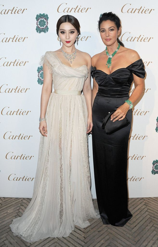 Fan Bingbing and Monica Bellucci at Cartier event in Rome, 2011.