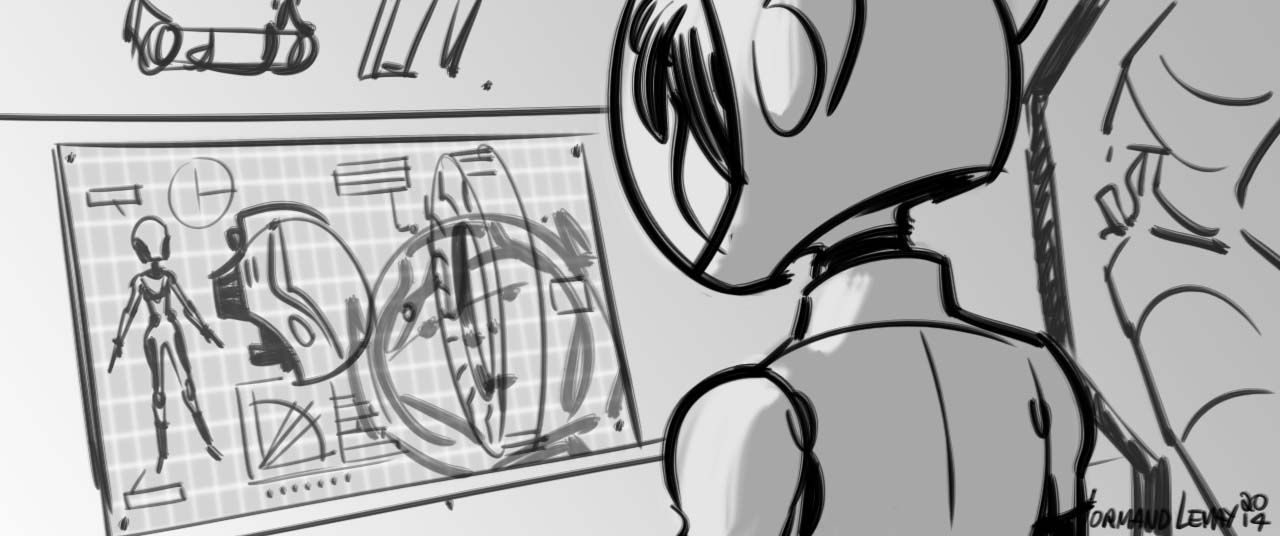 grizandnorm Selected story sketches from Big Hero 6-norm - visual storyboard