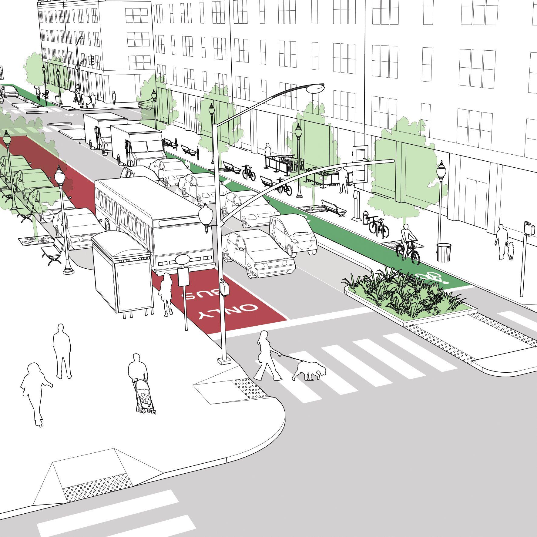 Resultado de imagem para urban street design guide pdf for Equipamiento urbano arquitectura pdf