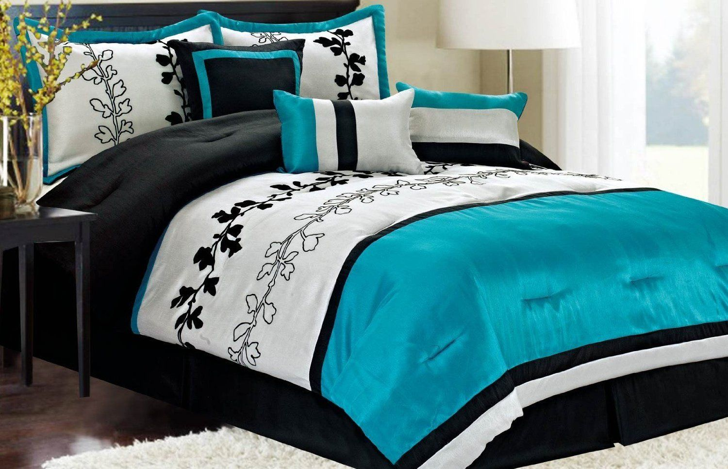 blue and green teen bed sets turquoise and brown bedroom ideas black and red wedding bouquet. Black Bedroom Furniture Sets. Home Design Ideas