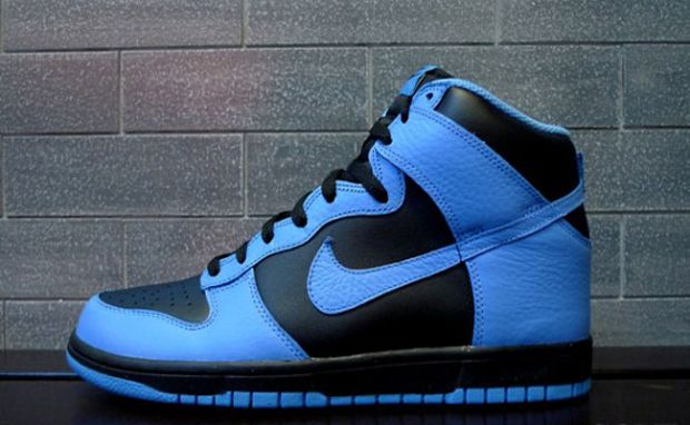 Light Blue and Black Nike High Tops