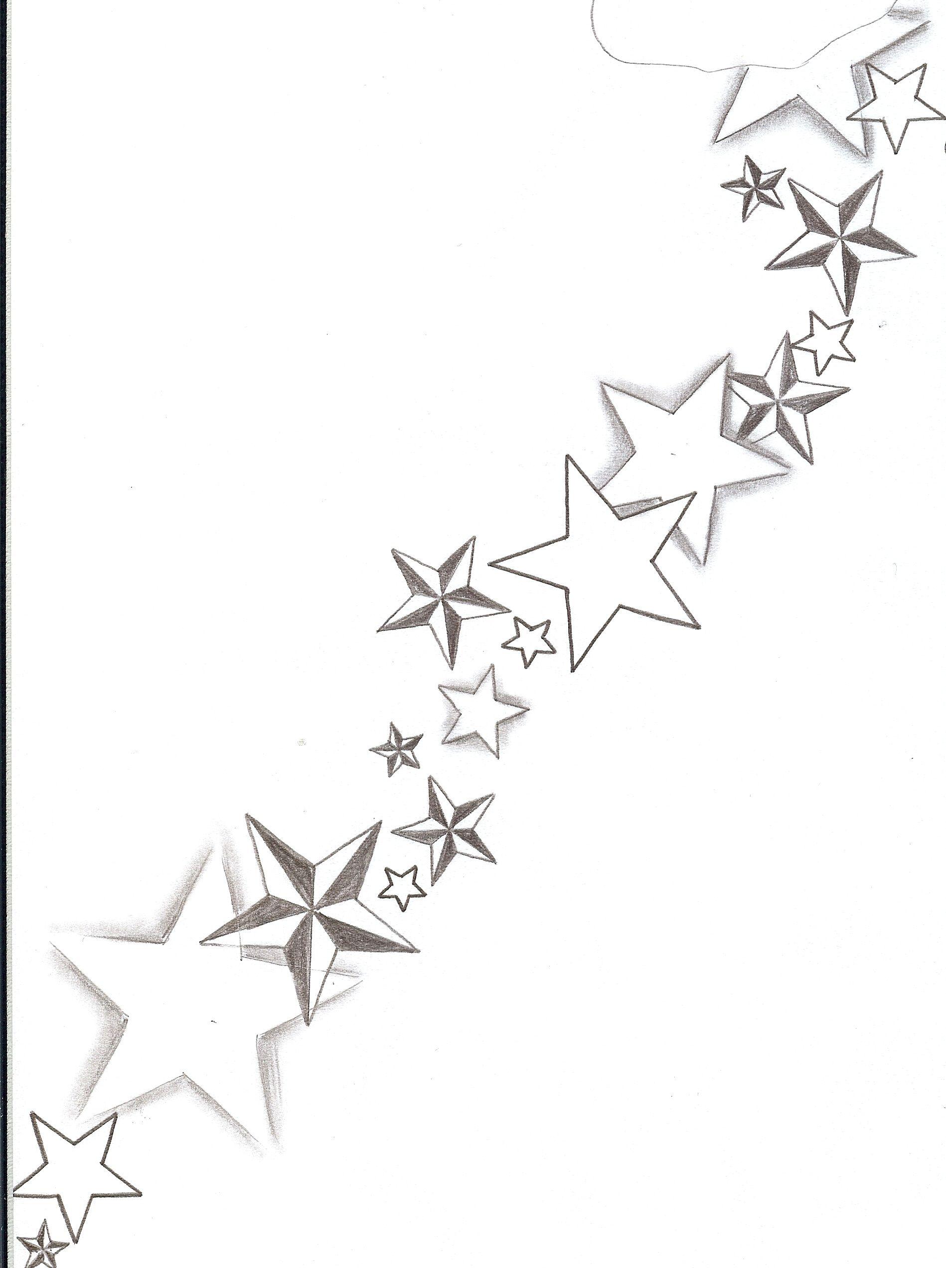 Shaded Star Tattoos Designs Tattoo Flash Stars Shadings By Nautical Star Tattoos Cloud Tattoo Design Star Tattoo Designs
