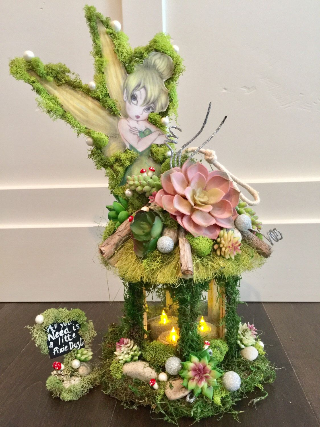 Tinkerbell, Centerpiece candle , Enchanted Forest ...