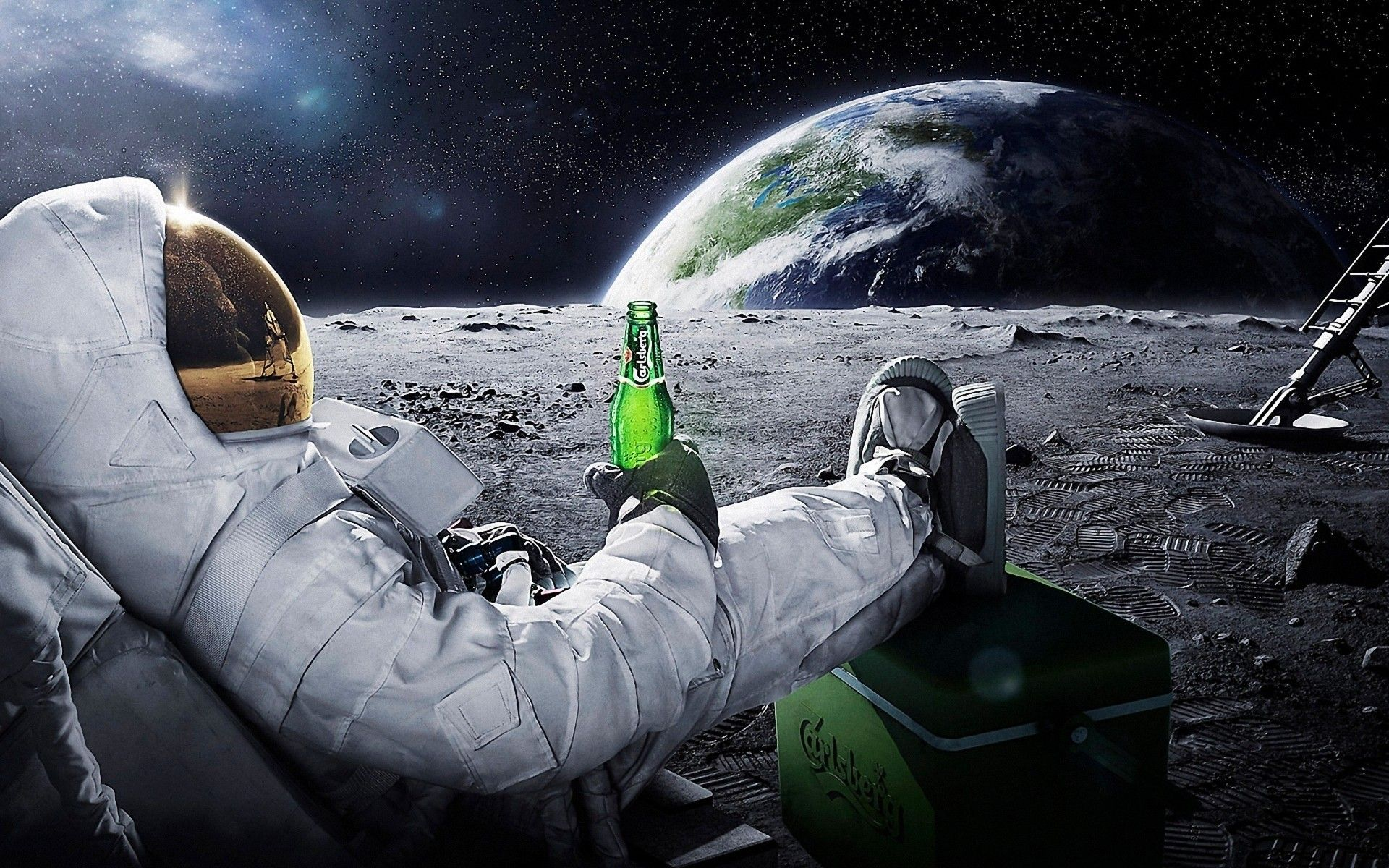 Astronaut Drinking Carlsberg Beer On The Moon 1920x1200 In 2020 Wallpaper Pc Astronaut Wallpaper Computer Wallpaper Hd