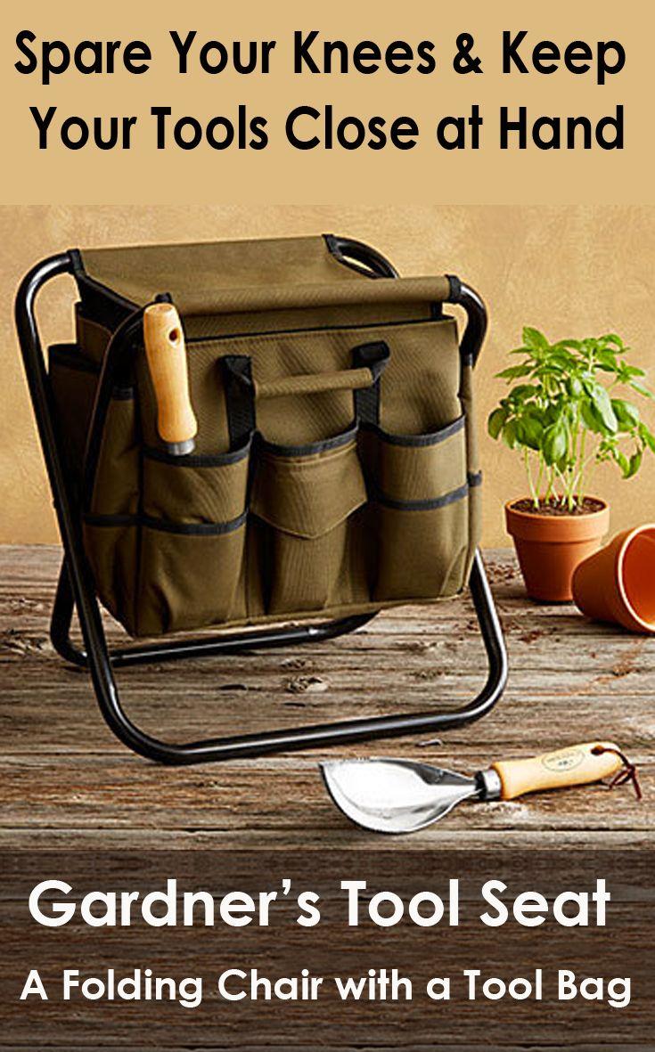 a2c1bdf137479c336e72a3303a4f90a4 - Picnic Time Gardener Folding Chair With Tools