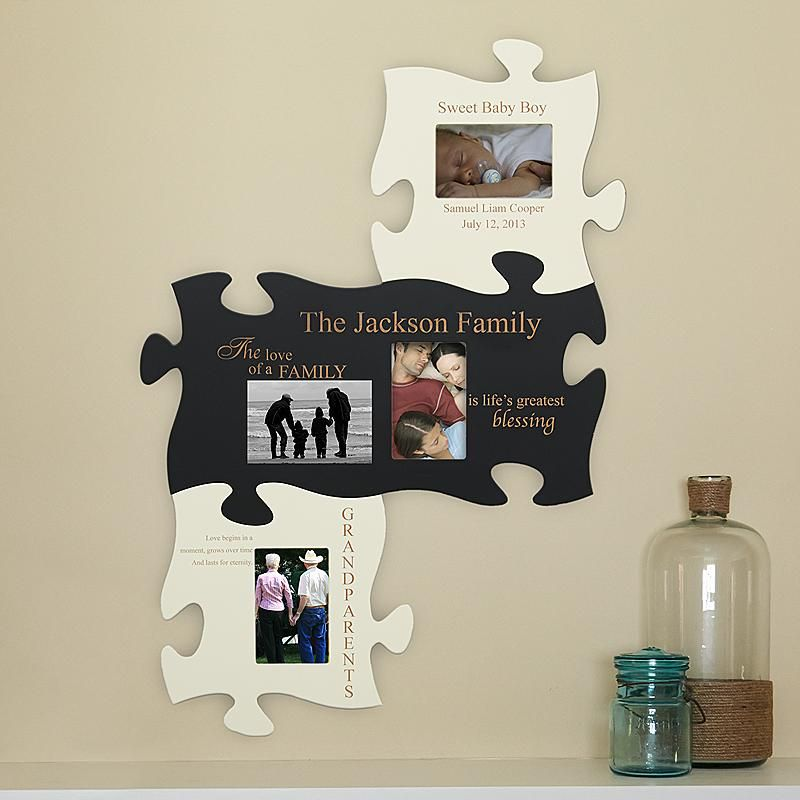 Family Painted Puzzle Set | Family painting, Walls and Cream paint