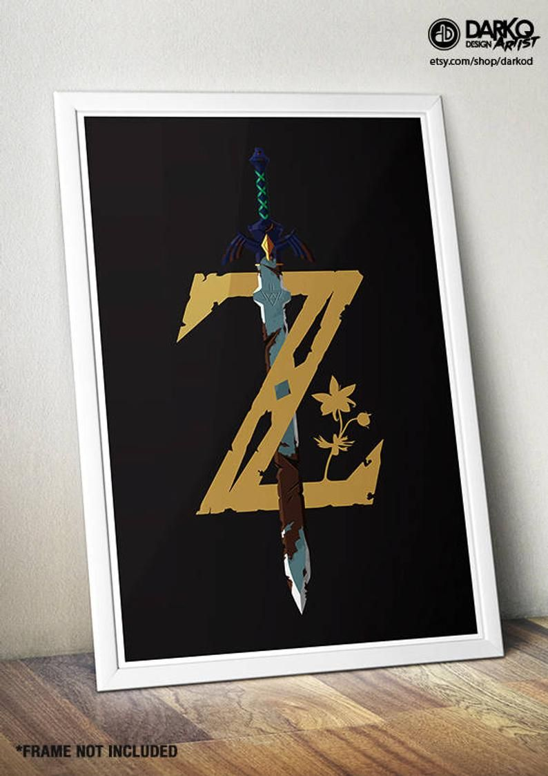 Legend of Zelda Breath of the Wild video game wall art