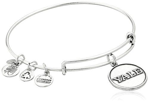 Alex And Ani Yale University Logo Expandable Rafaelian Silver Bangle