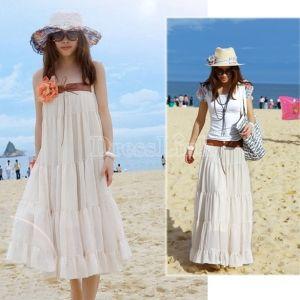 Apricot Lady Bohemian Classic Style Gored Chiffon Full Skirt
