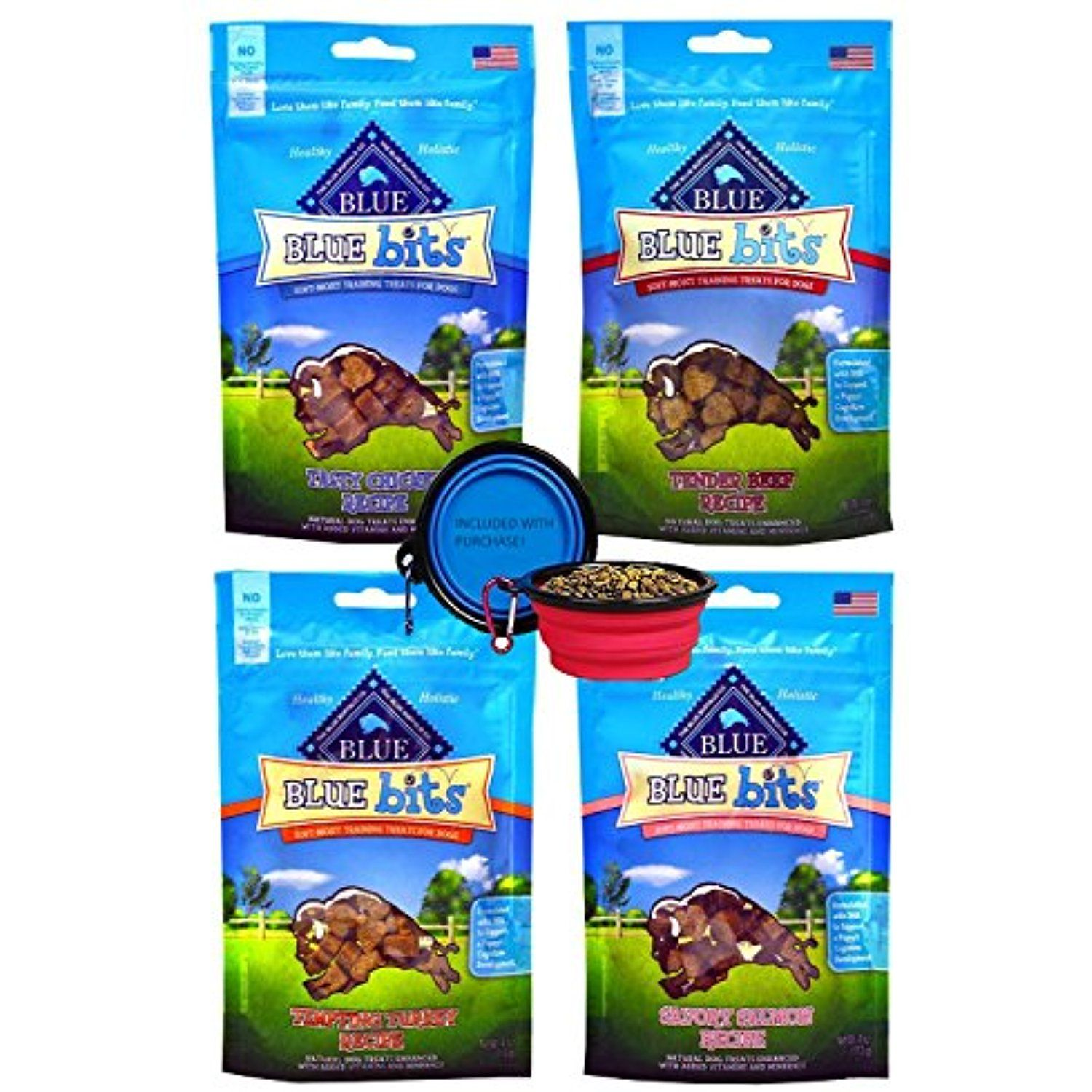 blue buffalo treats blue bits dog treats 4 flavors savory salmon tasty chicken tender beef and tempting tur dog food recipes tender beef holistic healthy pinterest
